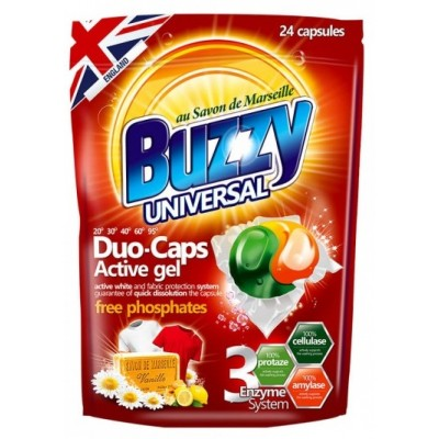 Buzzy Universal Duo-Caps veļas mazgāšanas kapsulas 432g (24 gab.)