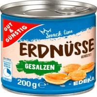 Gut & Günstig Erdnüsse grauzdēti, sālīti zemesrieksti 200g