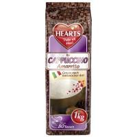 Hearts Cappuccino Amaretto šķīstošais kapučīno dzēriens ar Amaretto liķiera garšu 1000g