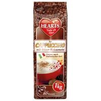 Hearts Cappuccino mit feiner Kakaonote šķīstošais kapučīno dzēriens ar kakao garšu 1000g