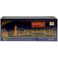 Impra Royal Elixir Tea Delight melnā tēja ar bergamoti un citronu paciņās 50g (25 gab.)